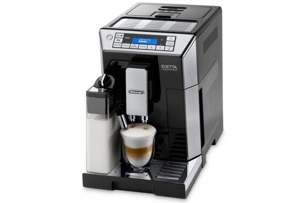 Large image of DeLonghi Black Eletta Cappuccino Machine - ECAM45760B