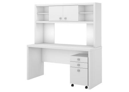 Bush Furniture Echo White Credenza Desk  - ECH006PW