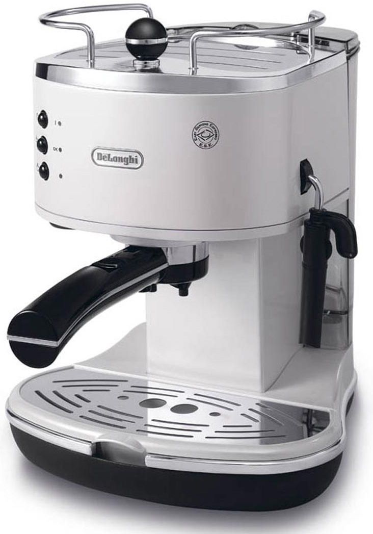 Delonghi Coffee Maker ~ Delonghi white icona pump driven espresso maker eco w