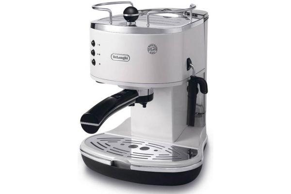 Large image of DeLonghi White Icona Pump Driven Espresso Maker - ECO310W