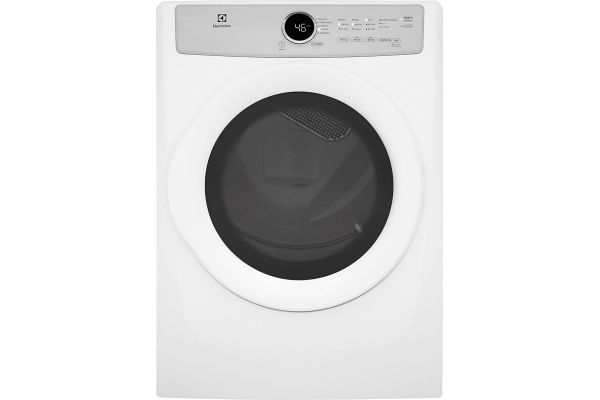 Large image of Electrolux 8.0 Cu. Ft. Island White Front Load Electric Dryer - EFDE317TIW