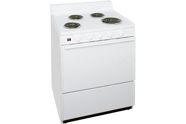 "Large image of Premier 30"" White Electric Range - EFK102OP"