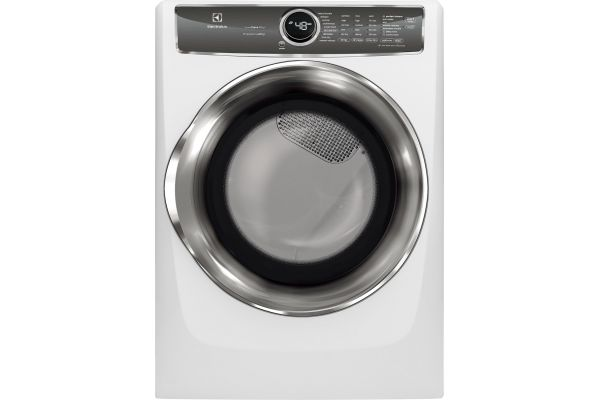 Large image of Electrolux Island White Electric Steam Dryer - EFME627UIW