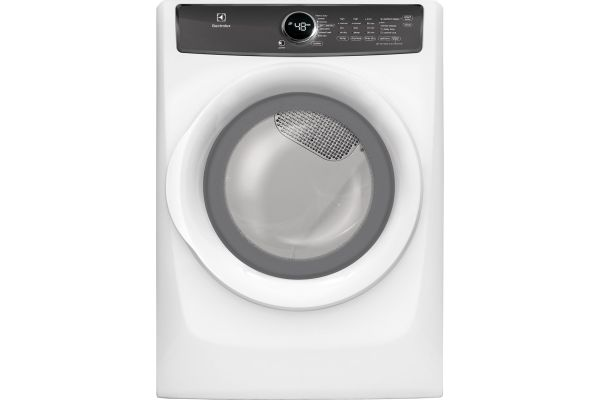 Large image of Electrolux Island White 8.0 Cu. Ft. Gas Dryer - EFMG427UIW