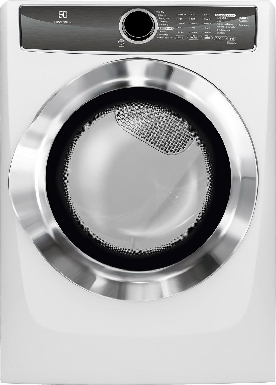 Electrolux Island White Gas Steam Dryer Efmg617siw