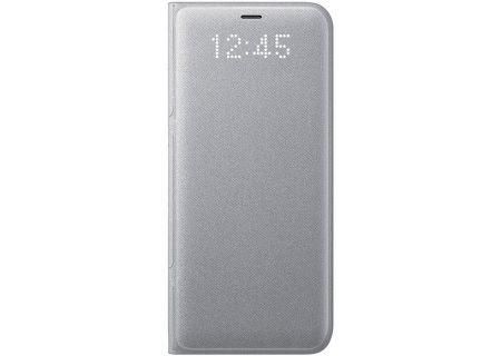Samsung Galaxy S8 Silver LED Wallet Cover - EF-NG950PSEGUS