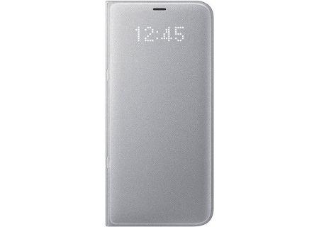 Samsung Galaxy S8+ Silver LED Wallet Cover - EF-NG955PSEGUS