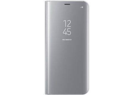 Samsung Galaxy S8+ Silver S-View Flip Cover - EF-ZG955CSEGUS