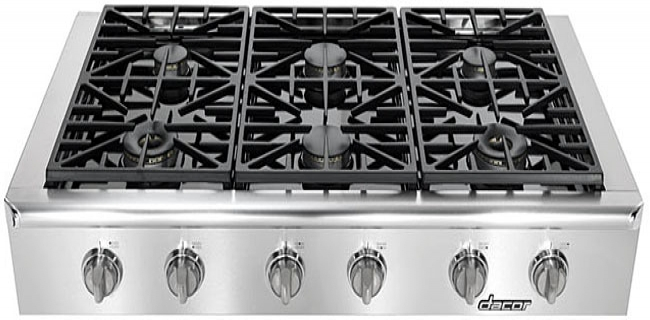 Dacor discovery 48 stainless gas rangetop eg486ssch for Dacor 48 rangetop