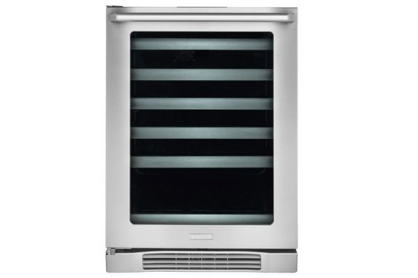 "Large image of Electrolux 24"" Stainless Frame Left-Hinge Under-Counter Wine Cooler - EI24WL10QS"