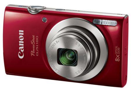 Canon PowerShot ELPH 180 20 Megapixel Red Digital Camera  - 1096C001