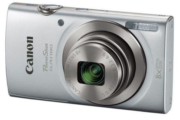 Large image of Canon PowerShot ELPH 180 20 Megapixel Silver Digital Camera  - 1093C001