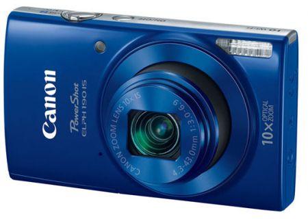 Canon PowerShot ELPH 190 IS 20 Megapixel Blue Digital Camera  - 1090C001