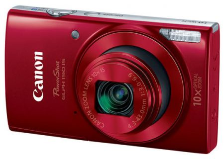 Canon PowerShot ELPH 190 IS 20 Megapixel Red Digital Camera  - 1087C001