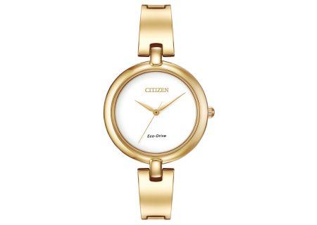 Citizen Eco-Drive Silhouette Bangle Gold Tone Women - EM022282A