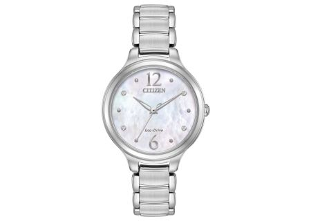 Citizen Eco-Drive L Collection Stainless Steel Womens Watch  - EM0550-59D