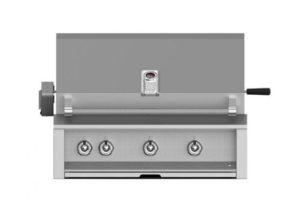 """Large image of Hestan Aspire 36"""" Stainless Steel Built-In Sear And U-Burner Rotisserie Natural Gas Grill  - EMBR36-NG"""