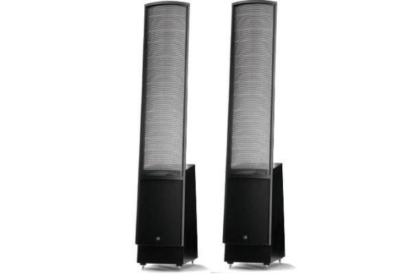 Large image of MartinLogan Black Floor Upright Stereo Speakers (Pair) - EMESLD