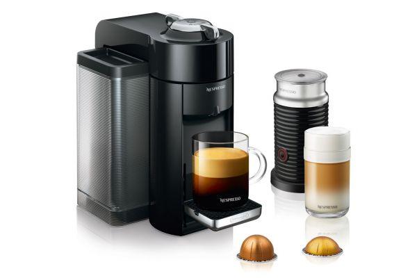 Large image of Nespresso Black Vertuo Evoluo + Milk Espresso Machine Bundle - ENV135BAE