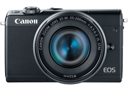 Canon EOS M100 Black Mirrorless Digital Camera With 15-45mm & 55-200mm Lenses - 2209C021