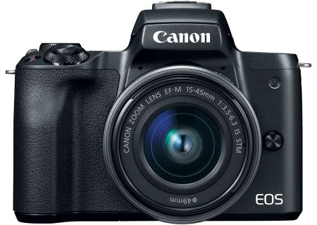 Canon EOS M50 Mirrorless Digital Camera With 15-45mm Lens - 2680C011
