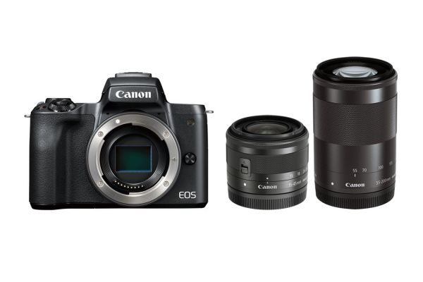 Canon EOS M50 Mirrorless Digital Camera With 15-45mm And 55-200mm Lenses - 2680C021