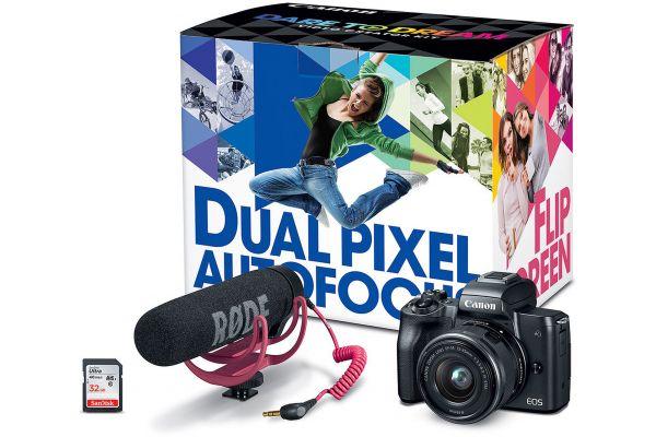 Large image of Canon EOS M50 Mirrorless Digital Camera Video Creator Kit - 2680C067
