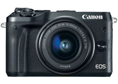 Canon EOS M6 Mirrorless Digital Camera With 15-45mm Lens - 1724C011