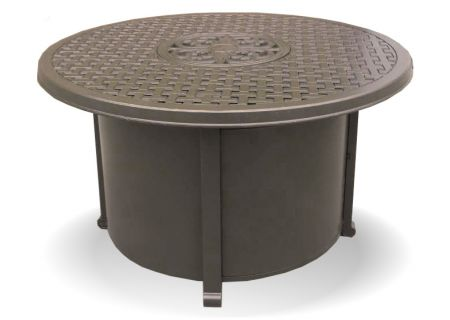 Elements by Castelle York Collection Round Lattice Top Fire Pit - EQFP1011G31