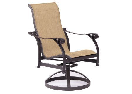Elements by Castelle York Collection Sling Dining Swivel Rocker - EQS3A06SG31SP13