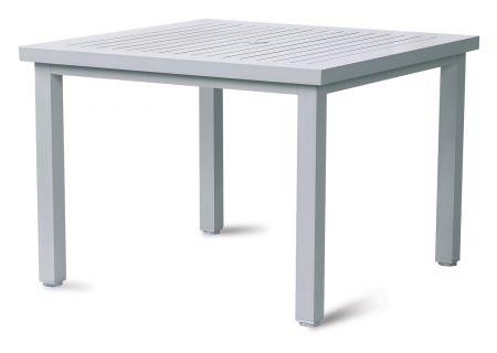 Elements by Castelle Bellevue Collection Platinum Square Slat Dining Table - EQT3S42SS0M02
