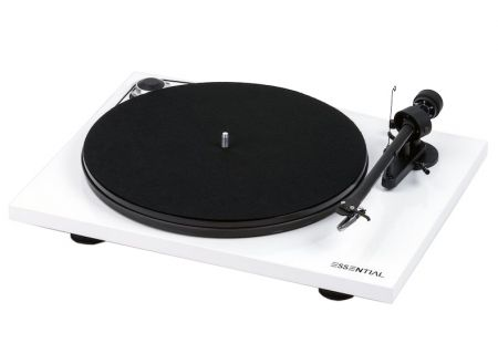Pro-Ject Essential III White Gloss Turntable - ESSENTIALIIIHGWH