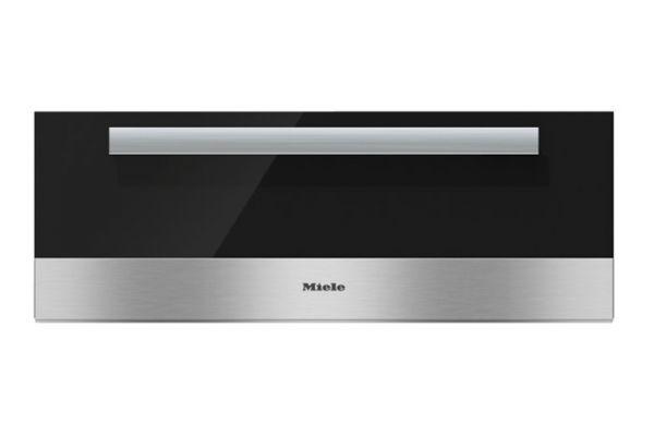"""Large image of Miele 30"""" PureLine Stainless Steel With Black Glass Front Warming Drawer - 09685120"""
