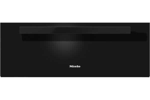 "Large image of Miele 30"" PureLine Obsidian Black Warming Drawer - 10034540"