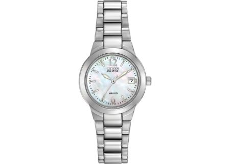 Citizen Eco-Drive Silhouette Sport Mother Of Pearl Dial Womens Watch - EW1670-59D