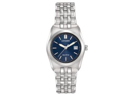 Citizen Eco-Drive Corso Blue Dial Ladies Watch - EW2290-54L