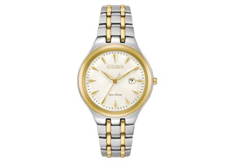 Citizen Eco-Drive Corso Two Tone Stainless Steel Womens Watch  - EW2494-54A