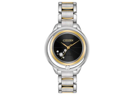 Citizen Eco-Drive L Sunrise Solitaire Two-Tone Womens Watch - EW5524-59E