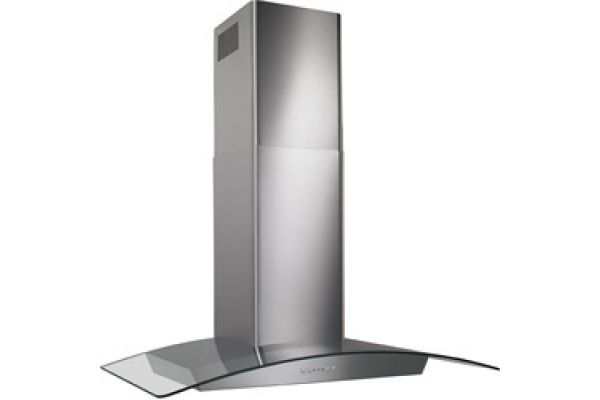 """Large image of Broan 36"""" Curved Glass Canopy Stainless Wall Hood - EW5636S"""