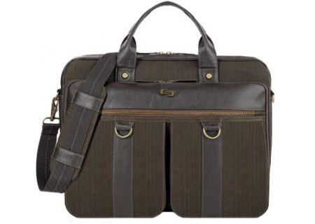 "Solo Bradford 15.6"" Espresso Briefcase  - EXE335-3"