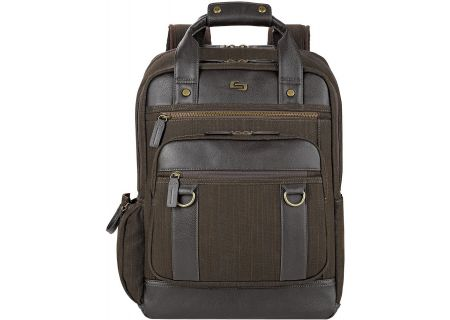 "Solo Bradford Collection Brown 15.6"" Backpack - EXE735-3"
