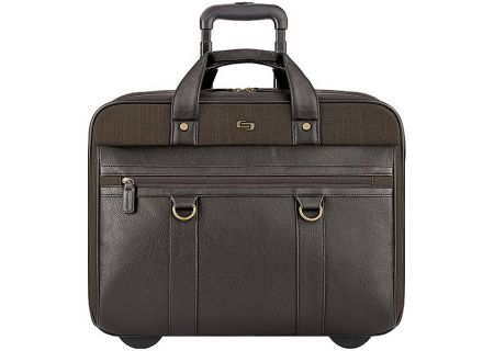 """Solo Bradford Collection Brown 17.3"""" Rolling Case - EXE935-3"""