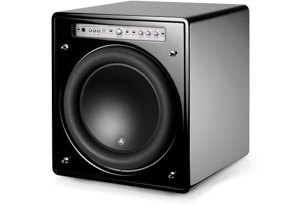 "Large image of JL Audio 13.5"" Fathom Black Gloss Powered Subwoofer - 96142"
