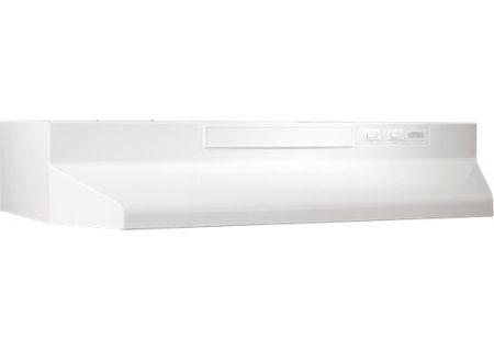 "Broan 30"" White Two-Speed 4-Way Convertible Range Wall Hood - F403011"