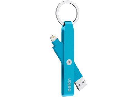 Belkin MixitUp Lightning To USB Blue Keychain - F8J172BTBLU