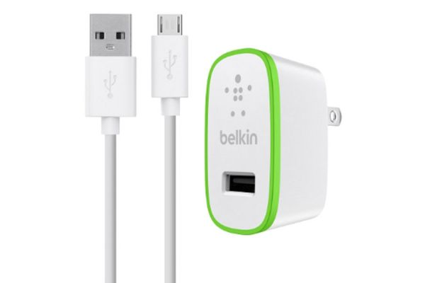 Large image of Belkin Universal Home Charger with Micro USB ChargeSync Cable - F8M886TT04-WHT