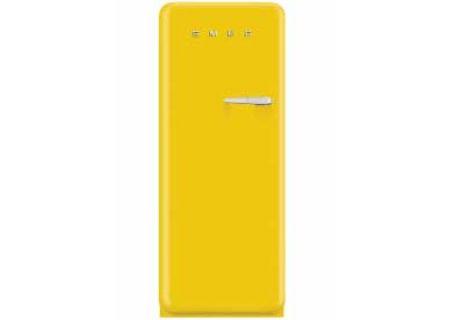 Smeg 50s Retro Style Aesthetic Left Hinge Yellow Refrigerator  - FAB28UYWL1