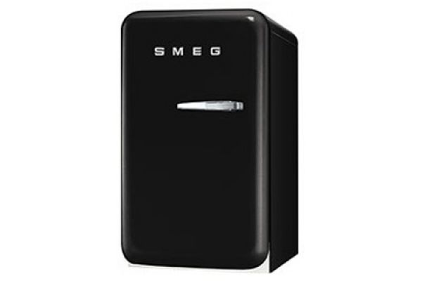 Smeg 50s Retro Style Mini Black Refrigerator - FAB5ULNE