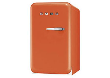 Smeg 50s Retro Style Mini Left Hinge Orange Refrigerator - FAB5ULO