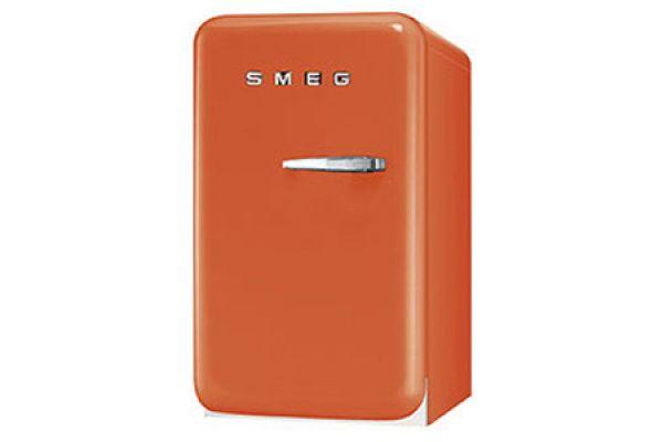 Smeg 50s Retro Style Mini Orange Refrigerator - FAB5ULO